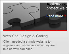 web site design and coding