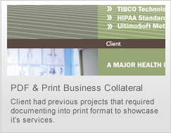 pdf & print collateral design